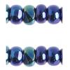 Cut 8/0 Blue Aurora Borealis Strung